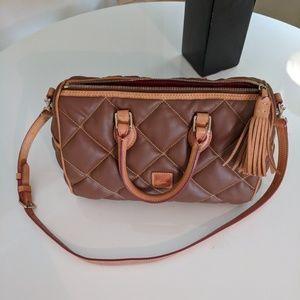Dooney & Bourke EUC quilted satchel coated canvas